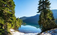 Stock Photo of lake in mountains