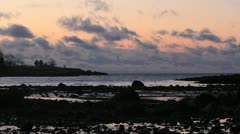 Time-Lapse, Cape Ann at Dawn, Clouds & Atlantic Ocean - stock footage