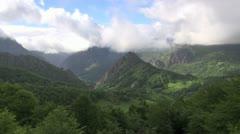 Asturias valley fast Stock Footage