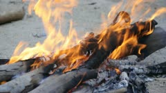 Small bonfire - stock footage