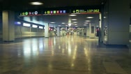 Airport corridors of departures and arrivals Stock Footage