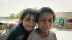 Portrait of Children in Mexico Stock Footage