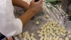 Small gnocchi Stock Footage