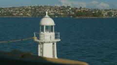 Lighthouse at Bradleys Head, Sydney (3) zoom Stock Footage