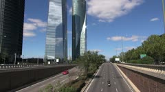 Exit road of Madrid 60 Stock Footage
