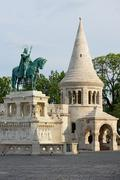 Fishermen's bastion and st. stephen king Stock Photos