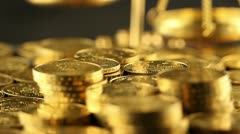 Money, coins background Stock Footage