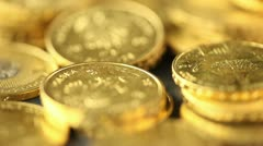 Coins background Stock Footage