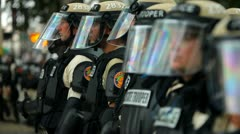 Riot Police Rain 4 Stock Footage