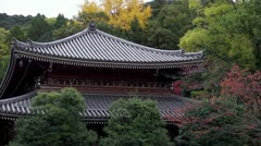 Chionin Temple And Fall Color Stock Footage