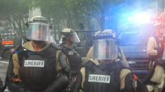 Riot Police Rain 14 Stock Footage