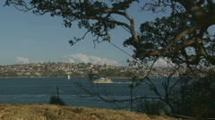 View from Bradleys Head in Sydney (zoom) Stock Footage