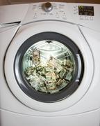 laundering money - stock photo