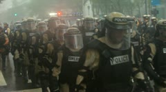 Riot Police Rain 17 Stock Footage