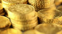 Money, coins background - stock footage
