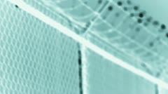 Razor wire and chain link fencing Stock Footage