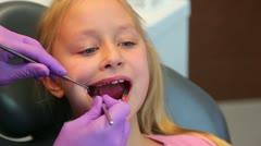 Dentist diagnosis, dental clinic - stock footage