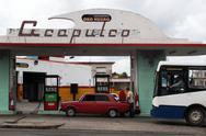 Stock Photo of Acapulco Gas Station, La Habana Cuba