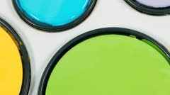 inside of paint can lids - stock footage