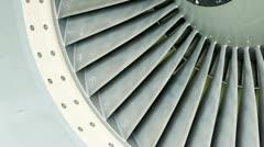 Jet engine intake Stock Footage