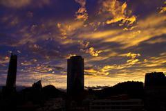 BlueRed Sky Stock Photos
