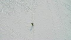 AERIAL: Cross-country skiing - stock footage