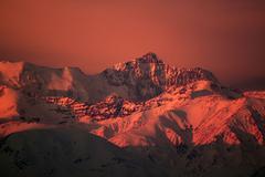 Sunset Mountains Stock Photos