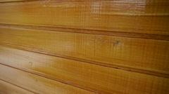 Freshly painted wood Stock Footage