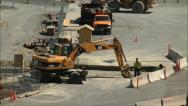 Stock Video Footage of Earth Mover working road construction