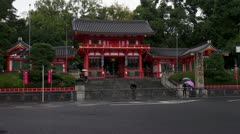 Gate To Yasaka Shrine Stock Footage