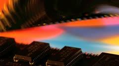 Computer memory strip Stock Footage