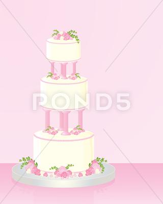 Stock Illustration of wedding cake