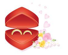 wedding rings - stock illustration