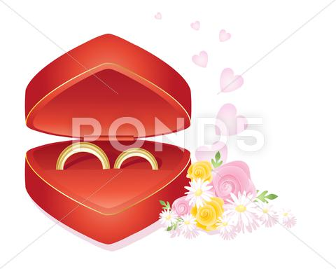 Stock Illustration of wedding rings