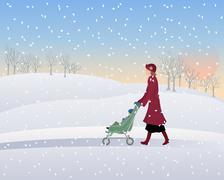 winter park - stock illustration