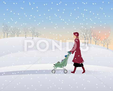 Stock Illustration of winter park