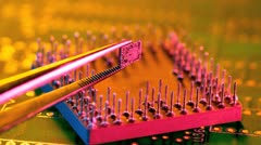 integrated circuit chip and ic - stock footage