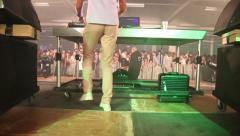 Dj backstage Stock Footage