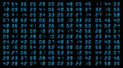 Led time clock counter videowall Stock Footage