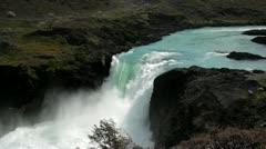Med shot Salta Grande Patagonia Stock Footage