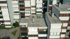 AERIAL: Blocks of flats Stock Footage