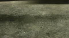 Boy Sweeps Dusty Garage Floor Stock Footage