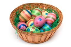 Easter Decoration Isolated on a White Background Stock Photos