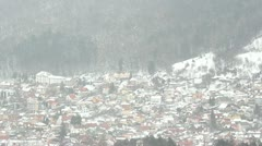 Mountain city in wintertime Stock Footage