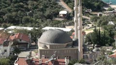 Central town mosk zoom out Stock Footage