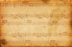 Grunge musical background Stock Illustration