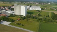 Stock Video Footage of AERIAL: Large silo