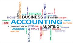 word cloud - accounting - stock illustration