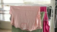 Hanging Washing - stock footage