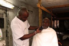 Cuban Barbershop - stock photo